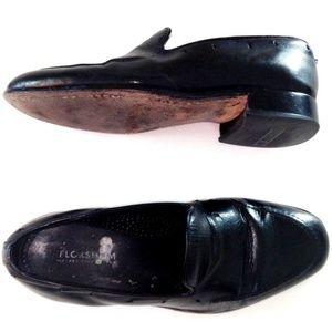 Florsheim Black Leather Slip On Loafer Men 8 A0014